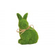 Lapin floqué de vert argile (L / H / P) 10x13x7cm