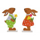Display Felt rabbit colorful 2- times assorted , (