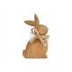 Display Mango wood rabbit brown (W / H / D) 8x15x2