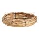 Ciotola in legno, rete metallica naturale (L / H /