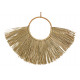 Wall hanger made of seagrass, natural metal (W / H