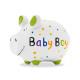 Spardose KCG Kleinschwein, Baby Boy, aus Keramik,
