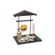 Set giardino Buddha ZEN, Buddha H 12 cm, gong, col