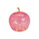 Apple con 20 LED in vetro rosa / rosa (L / A / P)