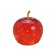 Apple con 20 LED in vetro rosso (L / H / P) 16x17x