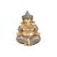 Ganesha in poli champagne (L / A / P) 16x21x16cm