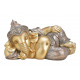 Ganesha sdraiato in poli champagne (L / A / P) 33x