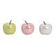 Céramique vert pomme, rose, blanc 3- fois assorti