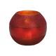 Lanterna in vetro rosso (L / H / P) 16x13x16cm