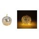 Apple con 20 LED con timer in vetro argento (L / A