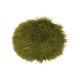 Coprisedile in ecopelliccia verde Matcha Ø34cm