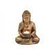 Buddha con portacandela in poly gold (L / A / P) 1