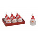 Tealight set pupazzo di neve 4x6x4cm in cera rossa