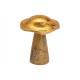 Pilz aus Mangoholz Gold (B/H/T) 12x16x12cm