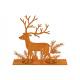 Portacandelina cervo per 2 lumini, aletta arruggin