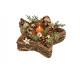 Stella portacandela, decorazioni natalizie in legn