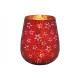 Lanterna stella decoro in vetro rosso (L / H / P)