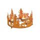 Corona dell'Avvento foresta invernale, arruggi