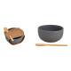 Set Tapa in ceramica, bambù nero, set da 2, (L/A