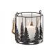 Lanterna per albero di Natale in vetro, metallo tr