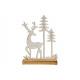 Espositore Cervo con albero, su base in legno di m
