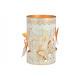 Decorazione farfalla lanterna in metallo bianco, o