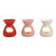 Decoro cuore lampada aromatica in ceramica rosso,
