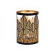 Decorazione foglia lanterna in metallo nero, oro (