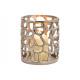 Lanterna in alluminio argento (B / H / D) 12x14x12