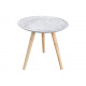 Side table with wood trim White (B / H / D