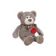 Peluche Bear Grey (B / H / D) 16x23x24cm