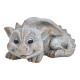 Dragon Lying Stone Look Poly Gray (B / H / D) 26