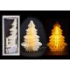 Tree honeycomb with gold glitter with illumination