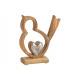 Espositore Uccello con cuore in legno di mango, me