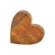 Cuore di legno di mango marrone (B / H / D) 10x2x1
