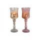 Calice windlight di bicchiere di champagne, rosa 2
