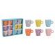 Set di tazze, fiori Decor in ceramica Set colorato