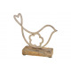 Espositore Uccello in metallo su base in legno di
