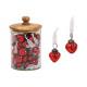 Heart pendant gloss optics made of red glass (W /