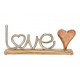 Espositore Lettering LOVE in metallo con legno di