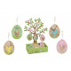 Hanger egg Happy Easter 6x8cm, con Display ad albe