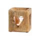 Décor de coeur de lanterne en bois de manguier, ve