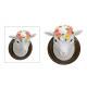 Lógó juhok fej fehér, fehér (W / H / D) 12x14x10cm