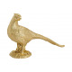 Fagiano di uccello in poly gold (B / H / D) 28x18x