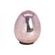 Ottica lucida per uovo di Pasqua in vetro rosa / r