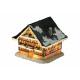 Huis met verlichting van poly, B18 x T18 x H19 cm