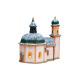 Windlichthaus Seekirche in Seefeld mit Schnee, aus