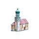 Windlicht-Haus Kirche I Wasserburg mit Schnee aus
