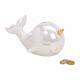 Savingsbox whale Pera effetto ceramica bianco (B /