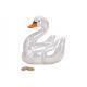 Salvadanaio Swan effetto perla bianco ceramica (B